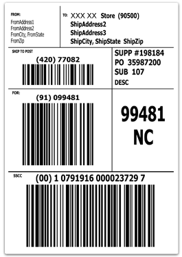 gs1-128 shipping label